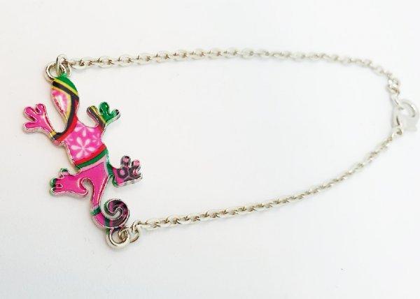 Armband mit Gecko Motiv in Farbe