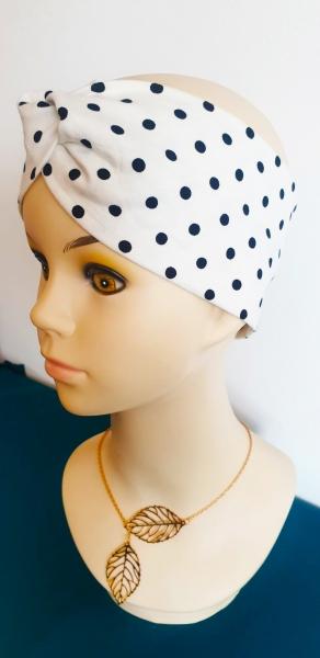 Sommer Haarband - Weiß mit Punkten
