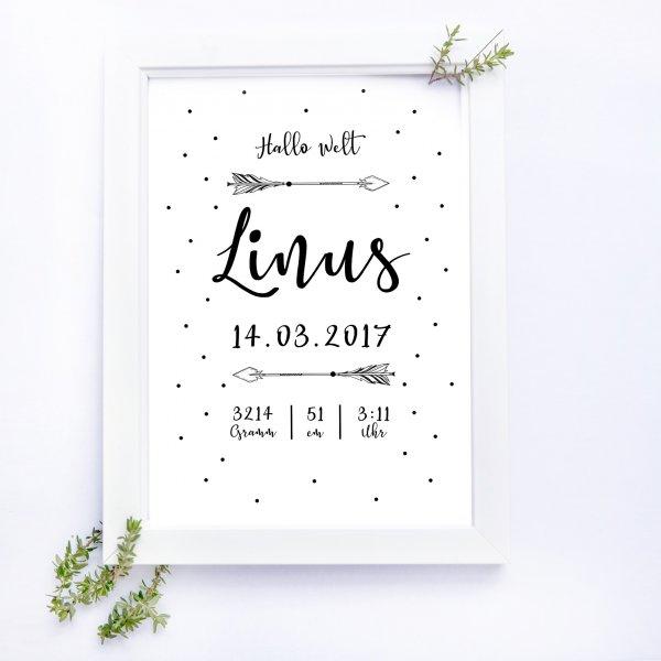 Hallo Welt - Poster für die Geburt