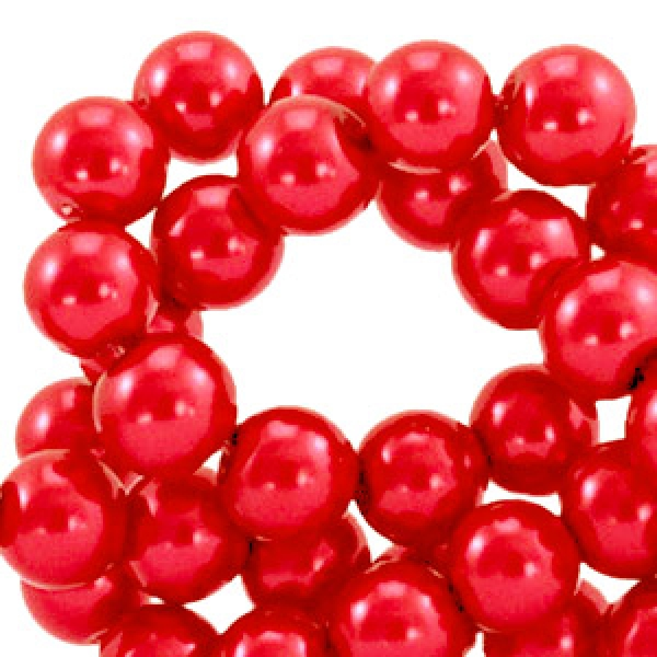 Glaswachsperlen - Cherry Red ( 8 mm)